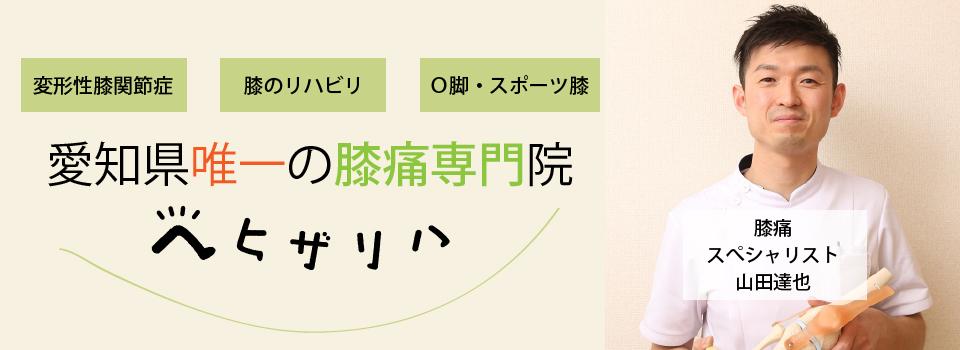 どこに行っても膝痛や変形性膝関節症が改善しない方のための、愛知県唯一膝痛専門院